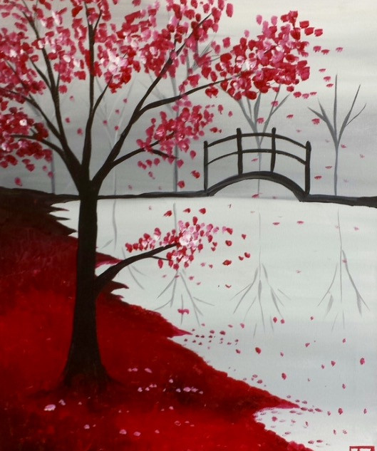 Red Tree & Bridge