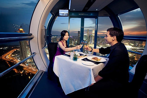 新加坡-觀光纜車奢華空中晚宴(兩位享用)