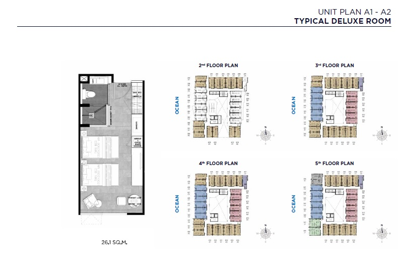 Unit Plan A1-A2 (Typical Deluxe Room)