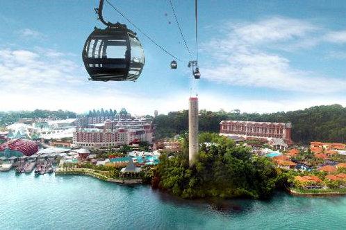 新加坡-觀光纜車來回車票+聖淘沙入場門票
