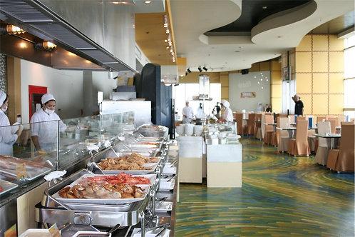 泰國曼谷天空餐廳自助晚餐