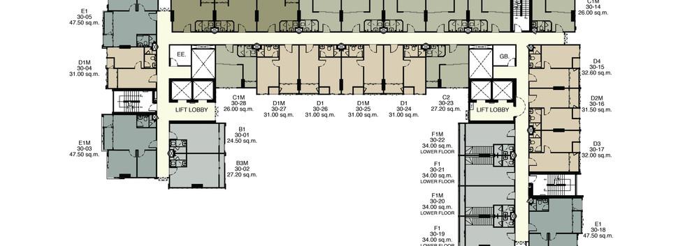 Ideo Mobi_30th Floor Plan