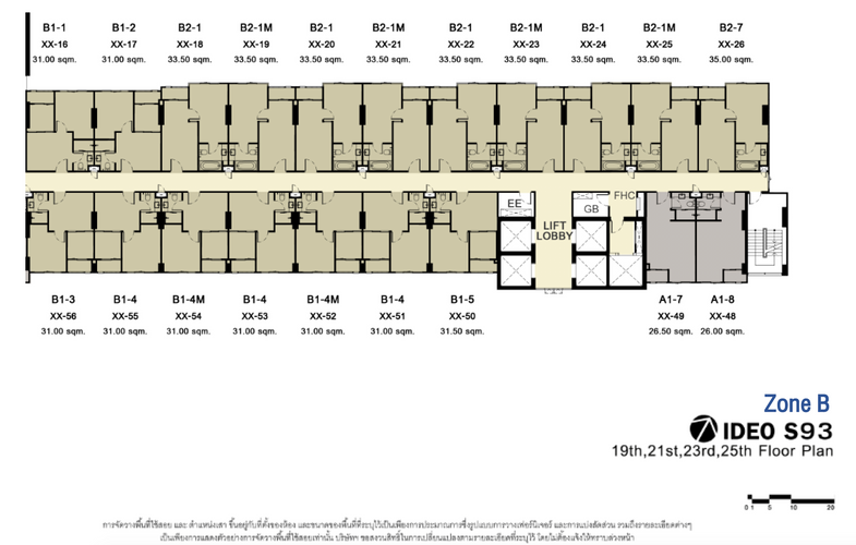 IDEO S93_B_19th,21st,23rd,25th Floor Plan
