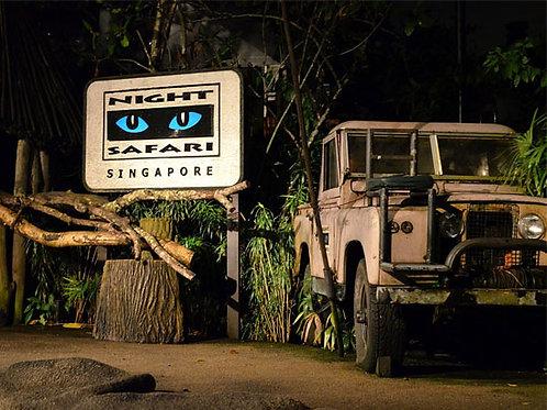 夜晚野生動物園(門票+遊覽車) Singapore Zoo Night Safari
