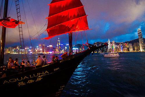 香港- 張保仔夜遊「幻彩詠香江」  Hong Kong-Aqua Luna Symphony of Lights Cruise