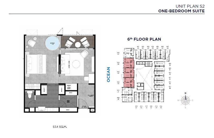 Unit Plan S2 (One-Bedroom Suite)