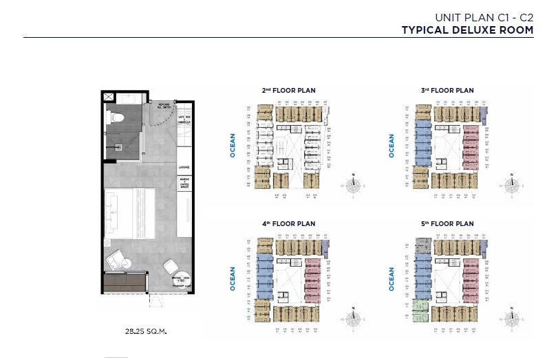 Unit Plan C1-C2 (Typical Deluxe Room)