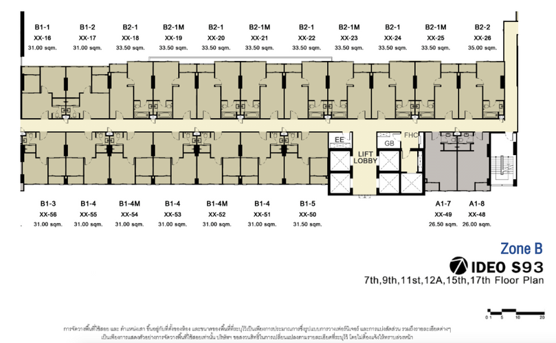 IDEO S93_B_7th,9th,11st,12A,15th,17th Floor Plan