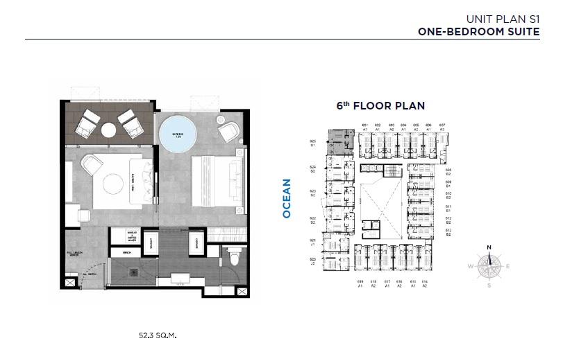 Unit Plan S1 (One-Bedroom Suite)