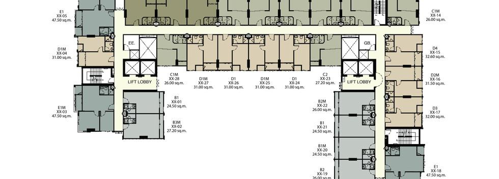 Ideo Mobi_9th-29th Floor Plan
