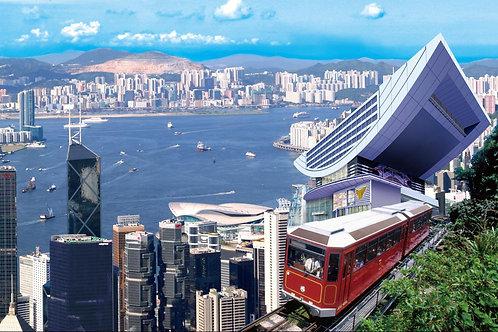 香港- 山頂纜車單程 + 摩天台428入場 Peak Tram Roundtrip Ride + Entry to Sky Terrace 42