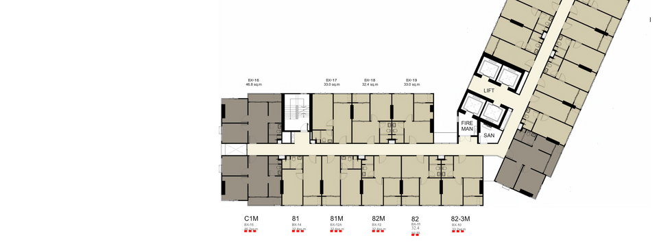 Building B_8,10-15,17-21,23-25,27-32th Floor