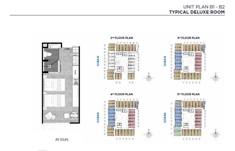 Unit Plan B1-B2 (Typical Deluxe Room)