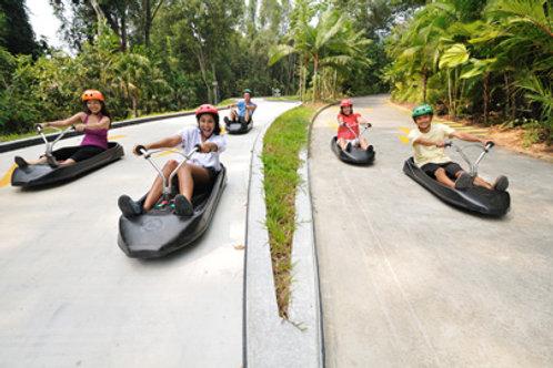 新加坡-聖淘沙天際線斜坡滑車+空中吊椅(各兩次)