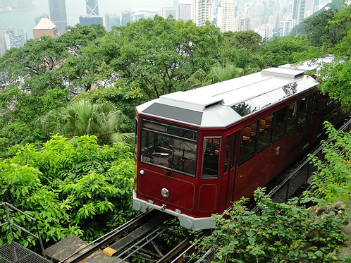 香港- 山頂纜車來回 + 摩天台428入場 Peak Tram Roundtrip Ride + Entry to Sky Terrace 428 ticket