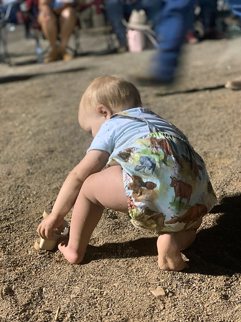 Baby cowboy, Country boy, cow romper, Western Wildflowers