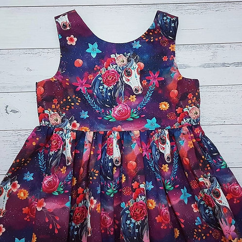 Sugarskull Pony Scoop Back Dress