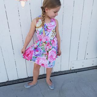 Bouquet Floral Strapback Dress
