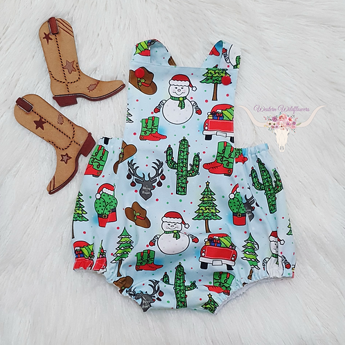 Cowboy Christmas Jumpsuit