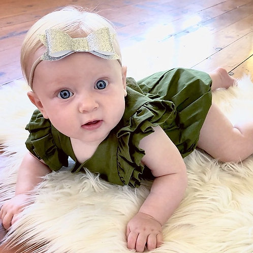 Olive Pinafore Playsuit