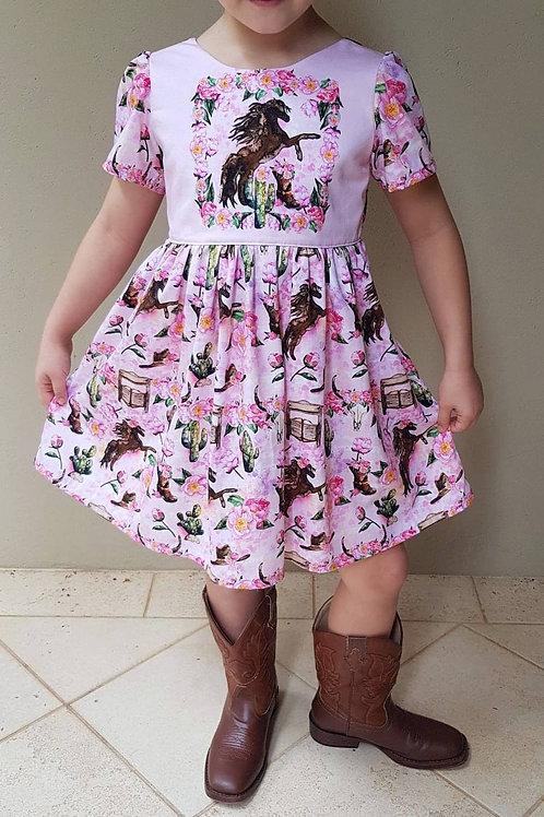 Pony Panel Scoop back dress