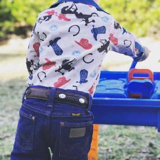 Rodeo kids long sleeve shirt