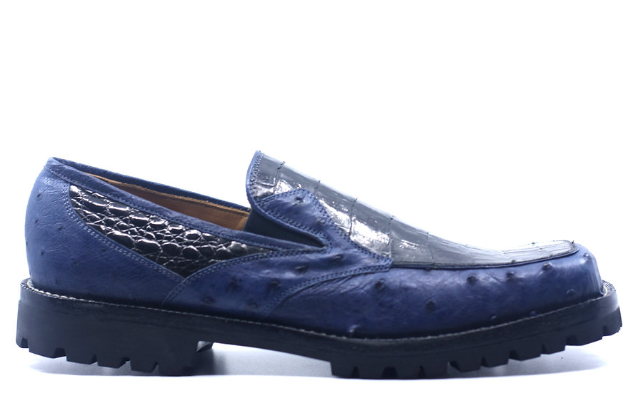 Crocodile and Ostrich Loafer US Men's 10.5