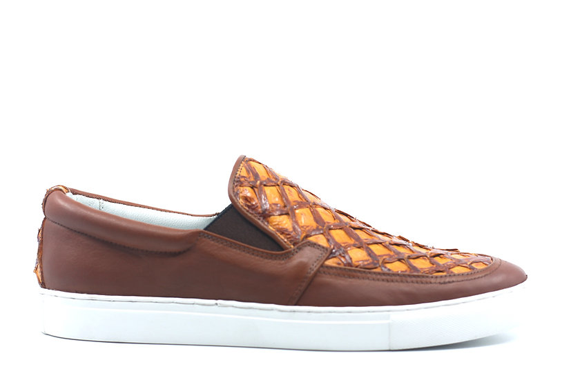 Arapaima Leather Slip On Sneaker