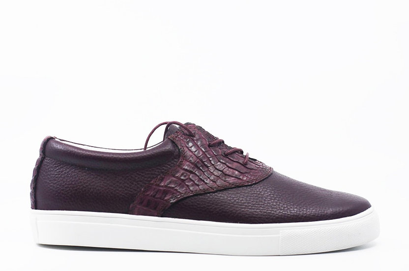 Leather & Crocodile Sneaker