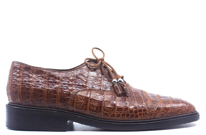 Full Cognac Croc Dress Shoes US 9.5