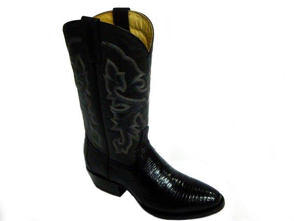 Round Toe Western Lizard Boot