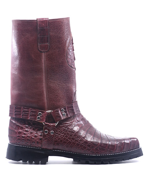Crocodile Belly Motorcycle Boot