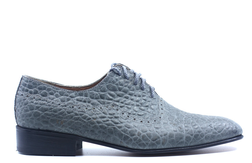Grey Textured Leather Dress shoe US 9