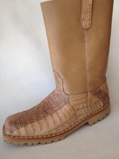 Brown Crocodile Motorcycle Boot