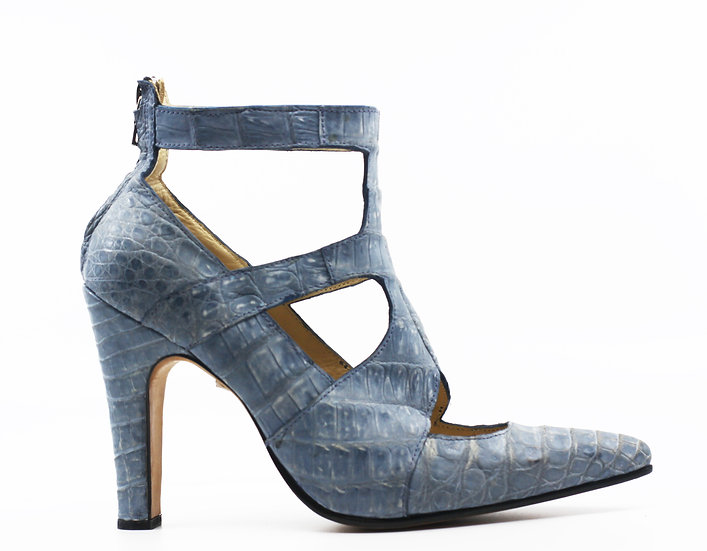 Suede Crocodile Heel Women's 8.5