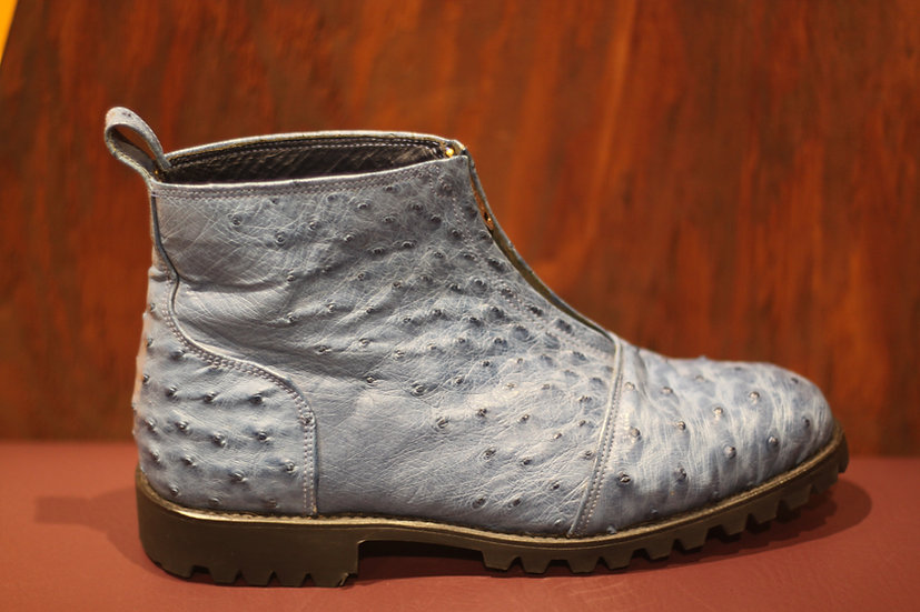 Ostrich Zipper Boot Size 9