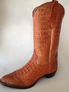 Full Crocodile Western Boot