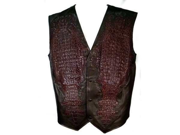 Crocodile with Lamb Leather Vest