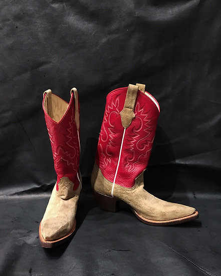 Suede Cowboy Boots (M Size 8.5 EE)