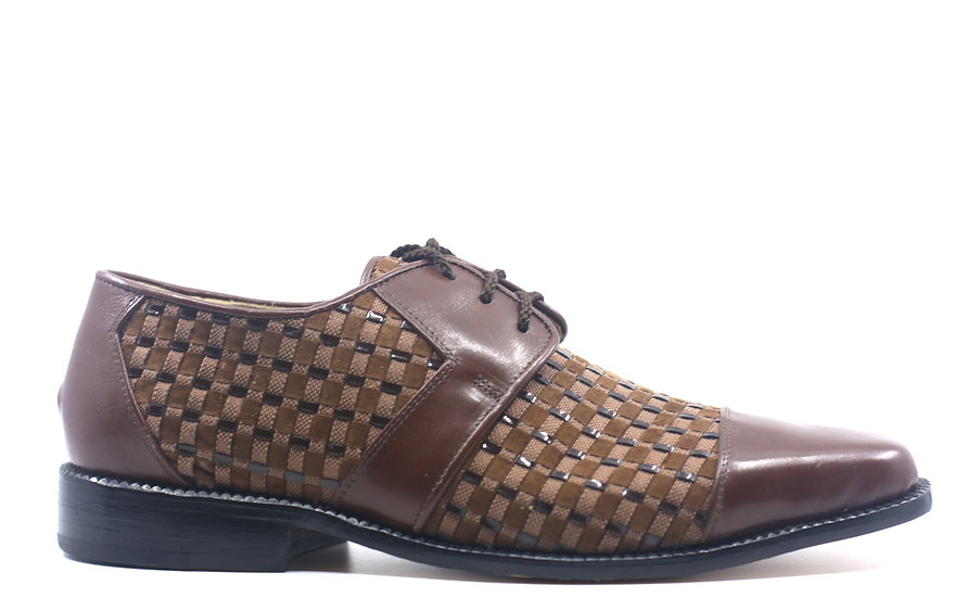 Brown Leather and Suede Dress Shoes US 10