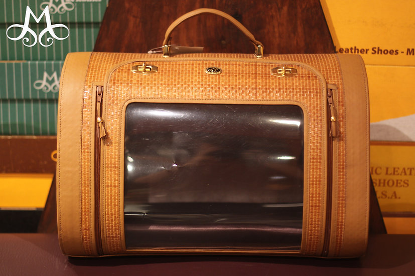 Genuine Leather Pet Carrier