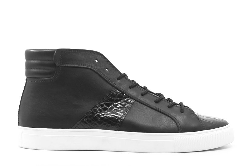 ML1 - Leather & Alligator High Top Sneaker