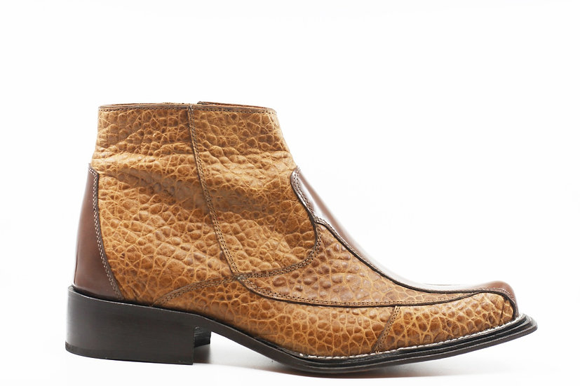 Cognac Buffalo Print Boot US 12