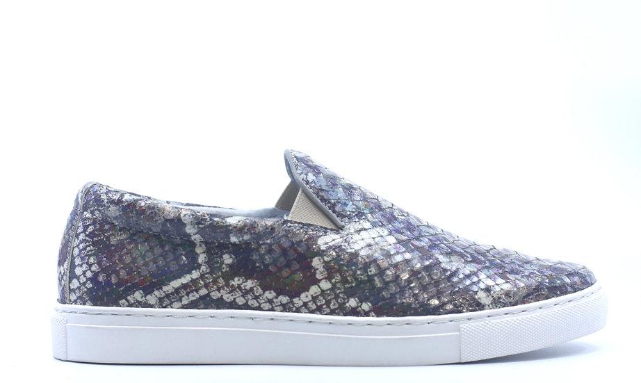 Printed Iridescent Python Sneaker