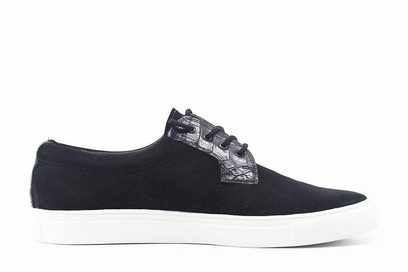 Suede & Alligator Sneaker