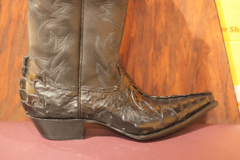 Crocodile & Ostrich Cowboy Boot