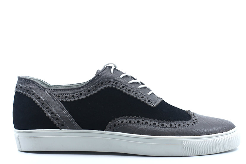 Leather & Suede Wingtip Sneaker