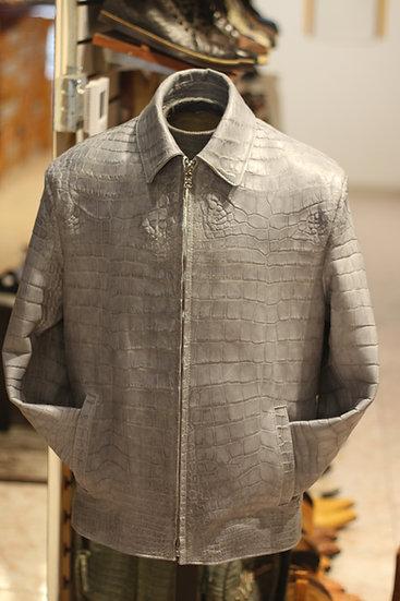 Full Grey Alligator Belly Jacket