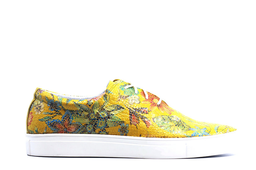 Floral Leather Sneaker