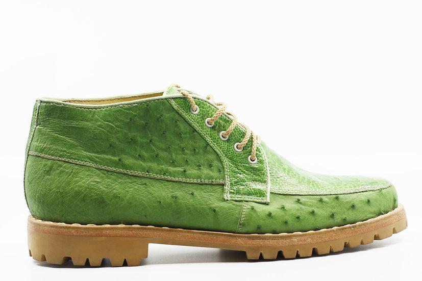 Green Ostrich 8D Size 14
